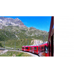 Trenino Bernina in Primavera ed Estate